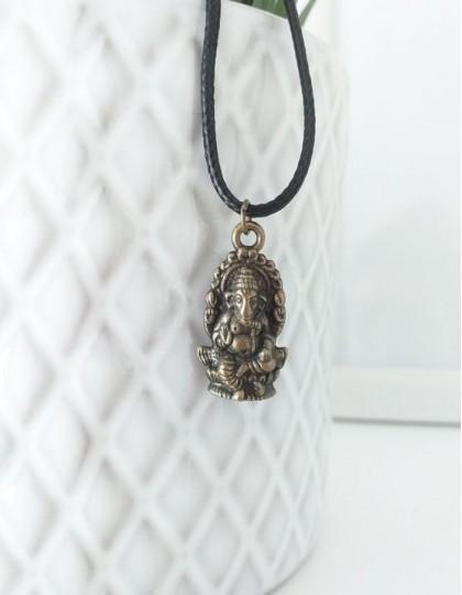 Colar com Ganesha (cor de bronze)