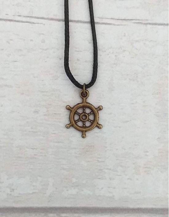 Colar com Roda do Dharma
