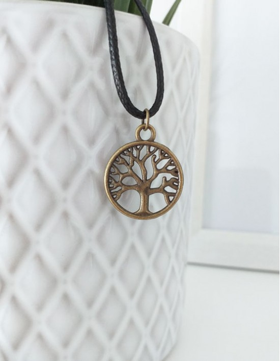 Colar com Árvore da Vida (cor de bronze)