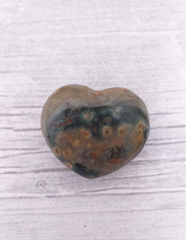 Jaspe Oceano (coração) - 3cm