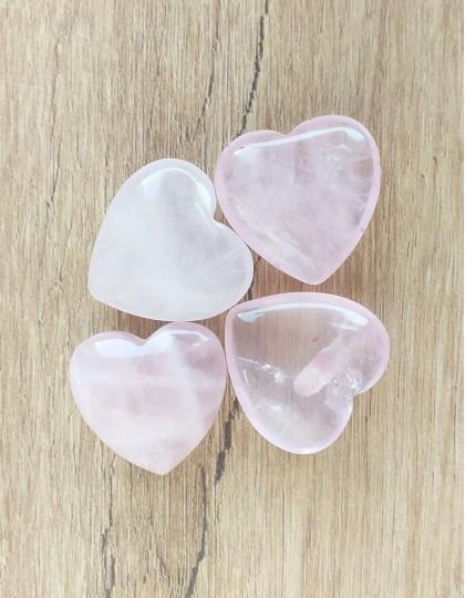 Quartzo Rosa (Coração) - 2cm