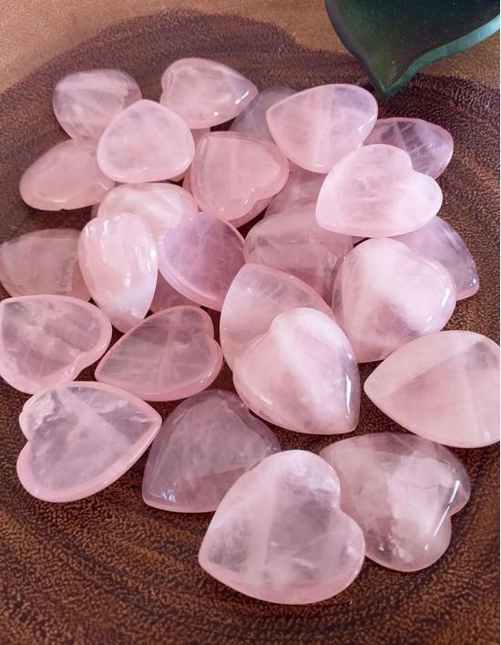 Quartzo Rosa - Coração 2cm (Unidade)