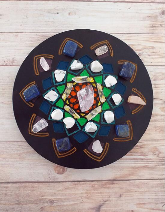 Grelha de Cristais - Conexão com os Guias Espirituais (Mandala)