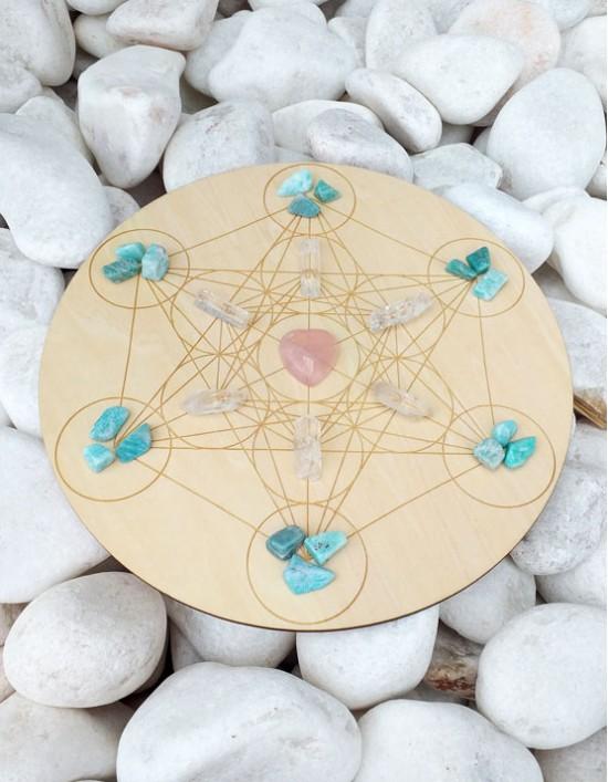 Grelha de Cristais - Atrair o Amor (Cubo de Metatron)