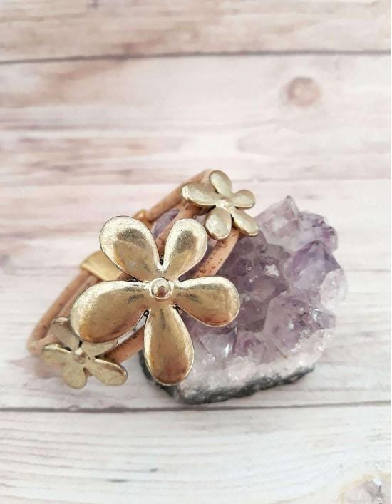 Pulseira Boho - Sakura (dourado)