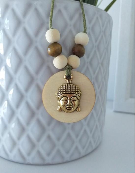 Colar Boho com Buda Gautama