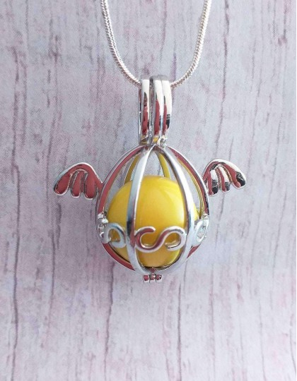 Chamador de Anjos (esfera amarela) - Asas de Anjo