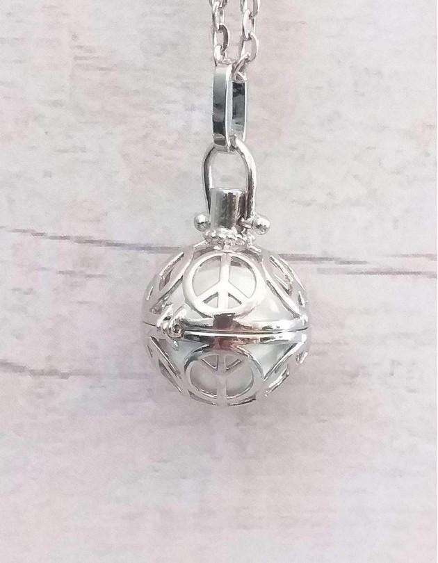 Chamador de Anjos (esfera branca) - Símbolo da Paz e Amor