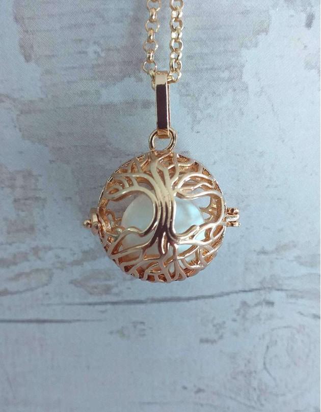 Chamador de Anjos (esfera branca) - Árvore da Vida