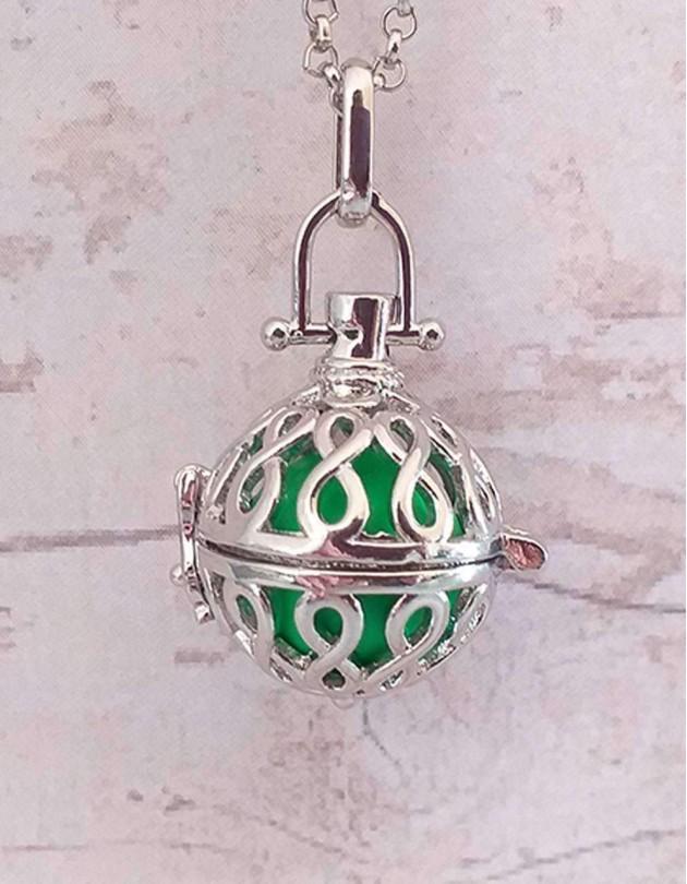 Chamador de Anjos (esfera verde) Símbolo do Infinito