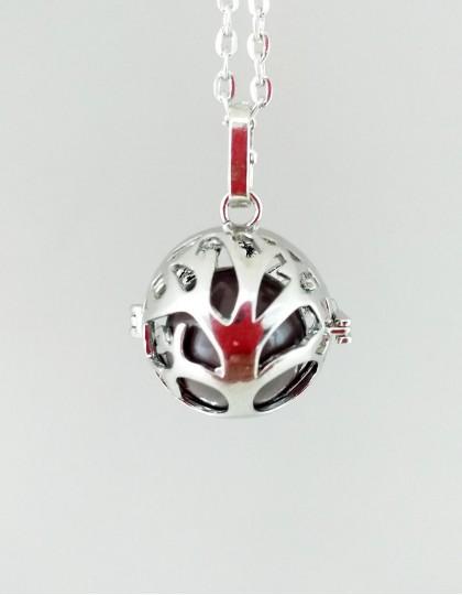 Chamador de Anjos com Árvore da Vida - esfera castanha (ref.: CA070)