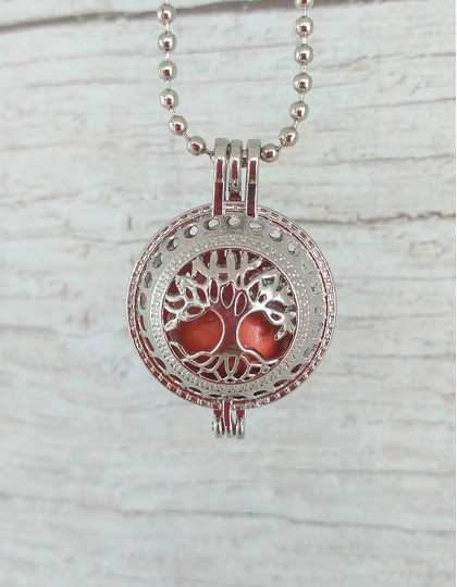 Chamador de Anjos com Árvore da Vida - esfera laranja (ref.: CA075)