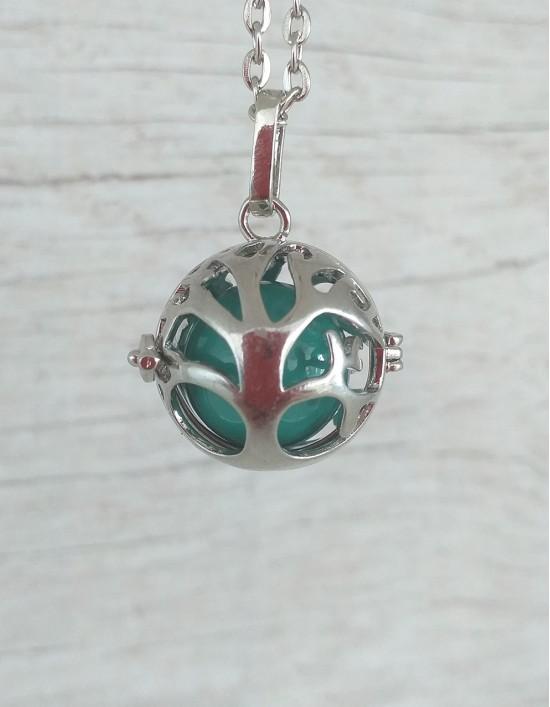 Chamador de Anjos (esfera turquesa) - Árvore da Vida
