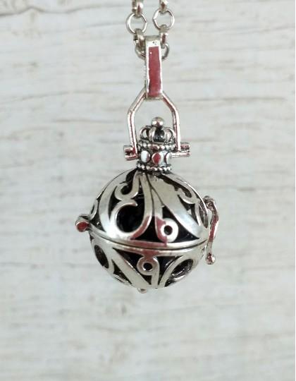 Chamador de Anjos - esfera preto (ref.: CA087)