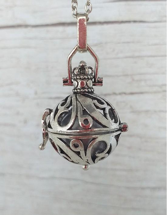 Chamador de Anjos - esfera prateada (ref.: CA088)