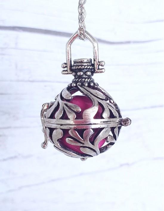 Chamador de Anjos - esfera rosa (ref.: CA096)
