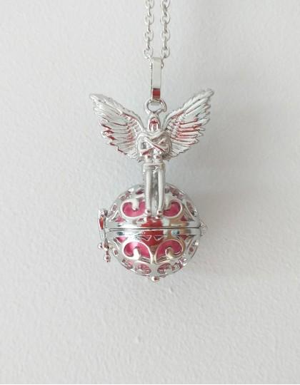 Chamador de Anjos com Arcanjo-Miguel - esfera rosa (ref.: CA099)