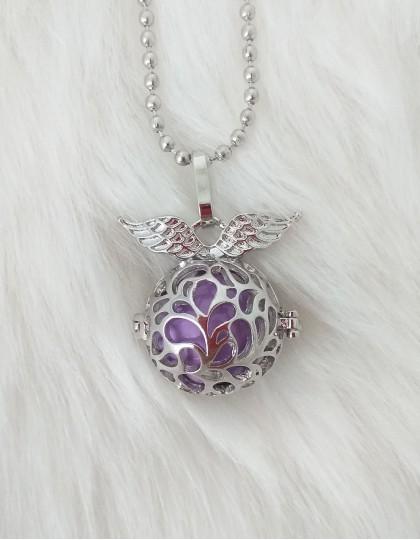 Chamador de Anjos com Asas - esfera violeta (ref.: CA104)