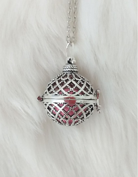 Chamador de Anjos - esfera rosa (ref.: CA121)