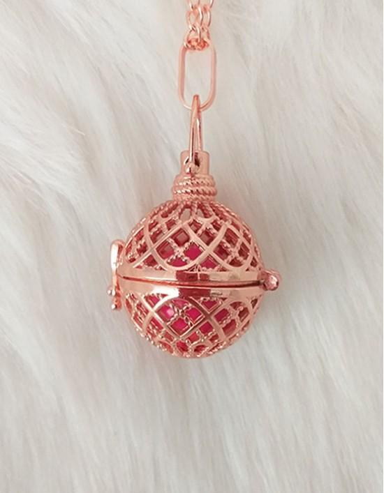 Chamador de Anjos - esfera rosa (ref.: CA123)
