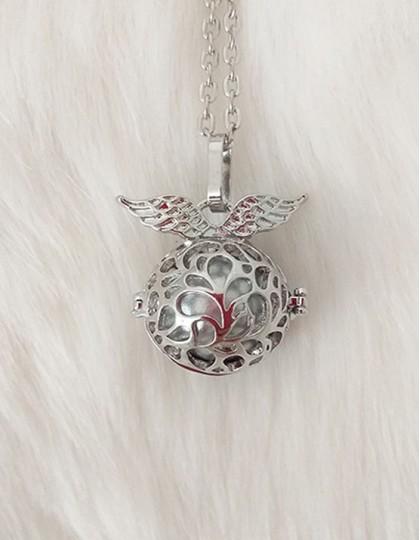 Chamador de Anjos com Asas - esfera prateada (ref.: CA129)