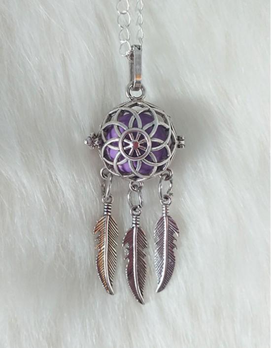 Chamador de Anjos com Caça-Sonhos - esfera violeta (ref.: CA134)