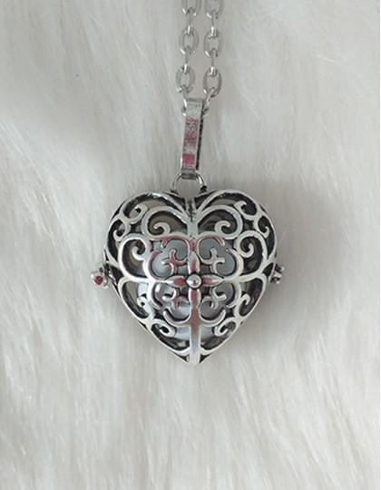 Chamador de Anjos com Coração - esfera branca (ref.: CA138)