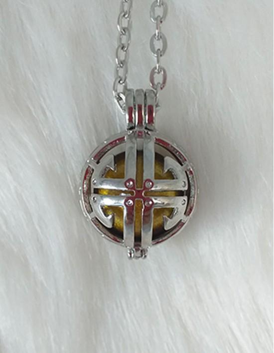 Chamador de Anjos com Símbolo da Prosperidade - esfera dourada (ref.: CA142)
