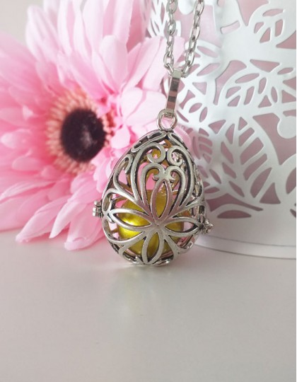 Chamador de Anjos Oval - esfera dourada (ref.: CA156)