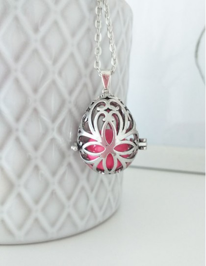 Chamador de Anjos Oval - esfera rosa (ref.: CA165)
