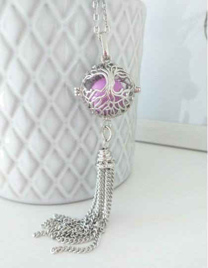 Chamador de Anjos com Árvore da Vida - esfera violeta (ref.: CA177)