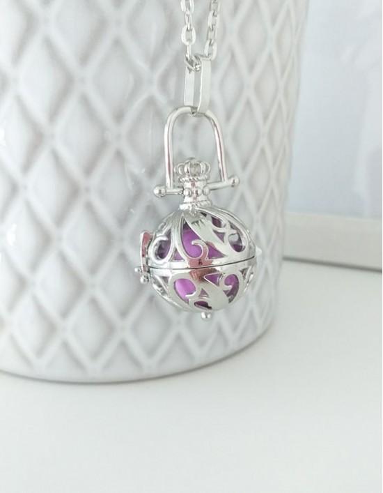 Chamador de Anjos - esfera violeta (ref.: CA207)