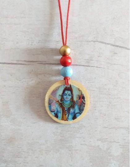 Colar de Madeira com Shiva
