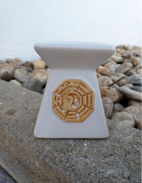 Queimador de Óleo - Yin Yang (branco)