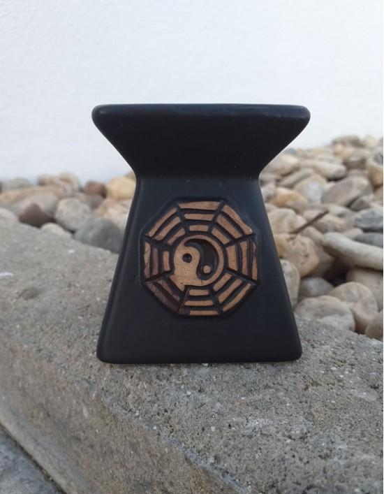 Queimador de Óleo - Yin Yang (preto)