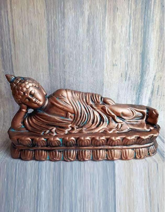 Estatueta do Buda Deitado em Cerâmica - 26cm