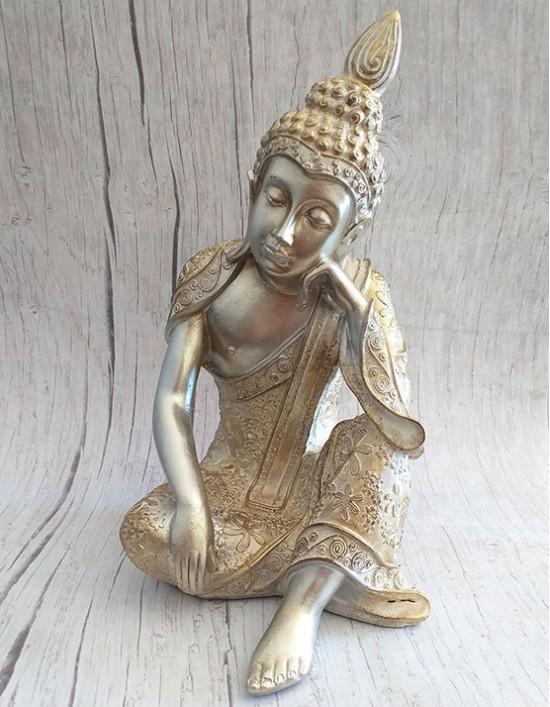 Estatueta do Buda Gautama a Descansar- 21cm