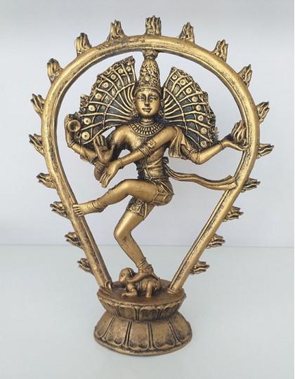 Estatueta de Shiva em Poliresina - 22cm