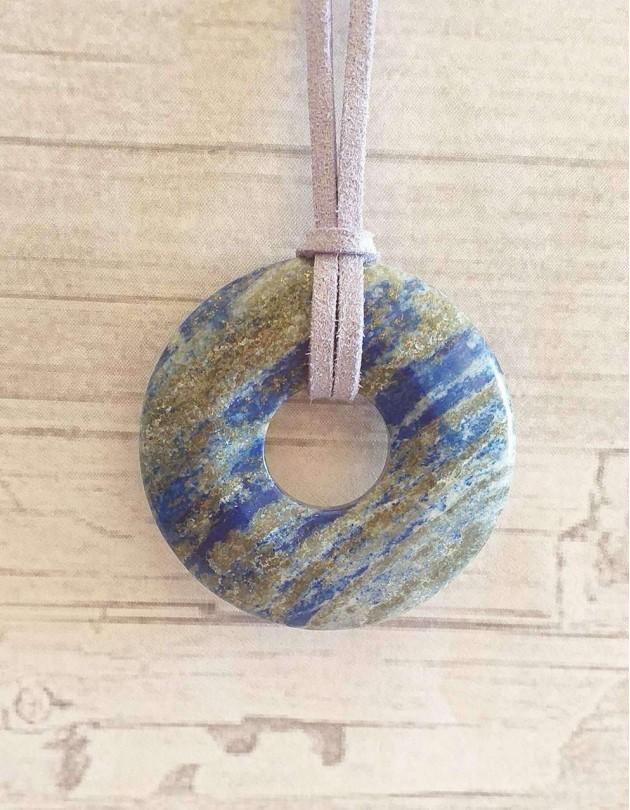 Colar com Pedra Pi - Lápis Lazuli