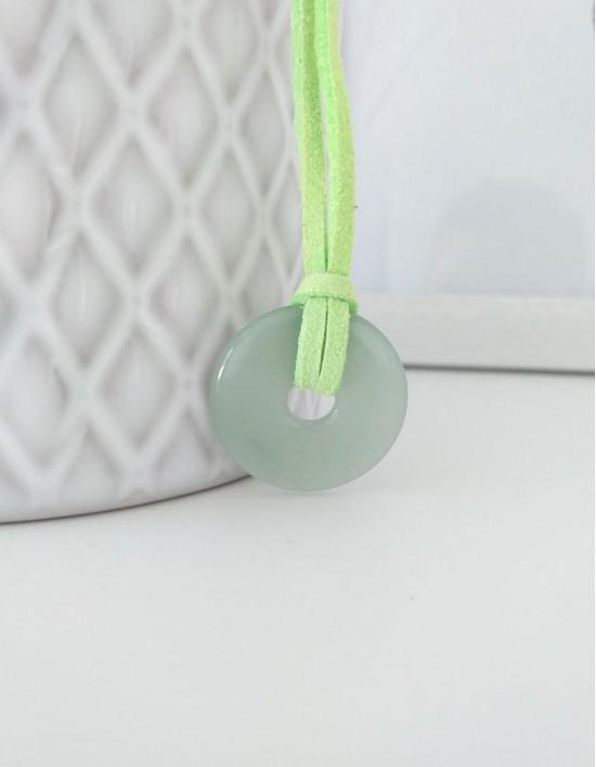 Colar com Pedra Pi (2.5cm) - Aventurina Verde