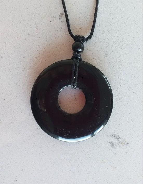 Colar com Pedra Pi (4cm) - Ónix