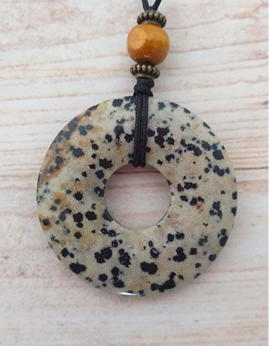 Colar com Pedra Pi (4cm) - Dálmata