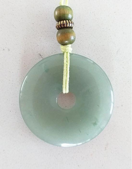 Colar com Pedra Pi (4cm) - Aventurina Verde
