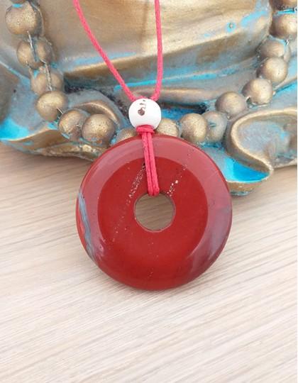 Colar com Pedra Pi (4cm) - Jaspe Vermelho