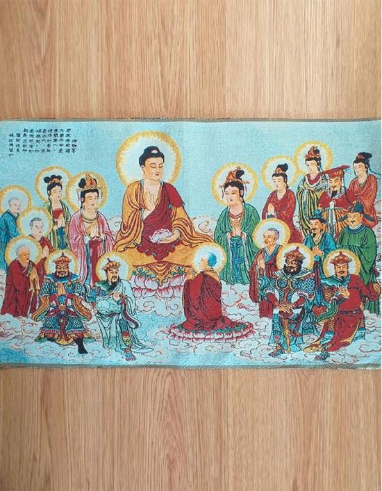 Thangka Buda Gautama e Bodhisattvas